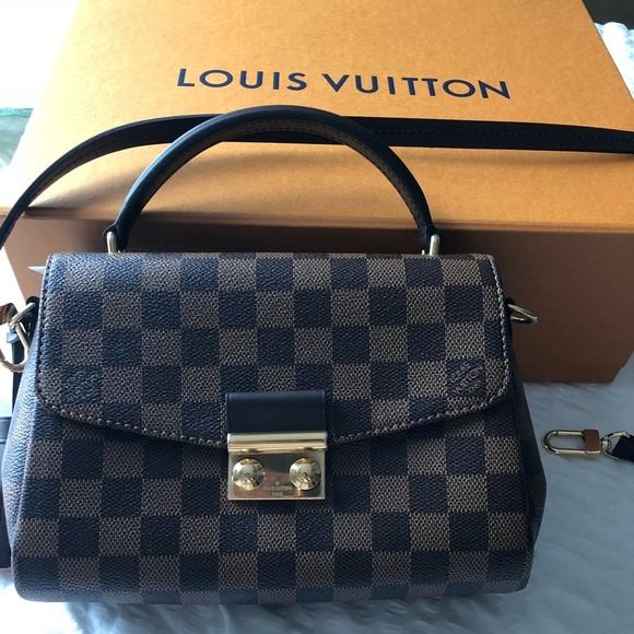 832b82c174c5 Louis Vuitton Cross Body Croisette Damier Ebene